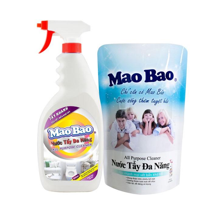 Nước tẩy đa năng Mao Bao Combo 1 Chai 600ml và 1 Túi 600ml   Shopee Việt Nam